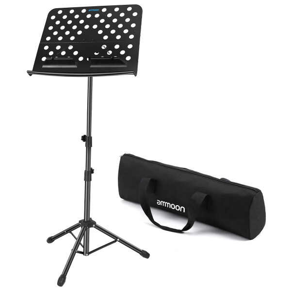 ammoon Portable Floor Type Sheet Music Stand with Carry Bag Black Malaysia