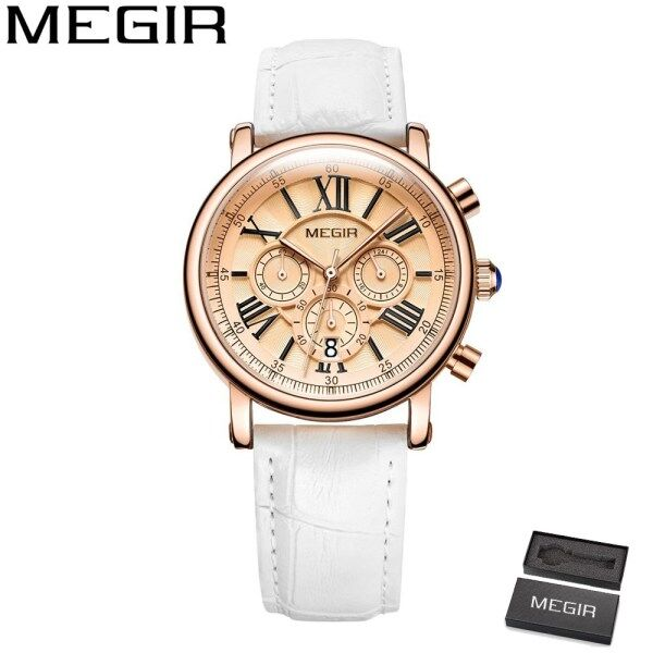 MEGIR 2058 Top Luxury Brand Watch For Man Fashion Sports Men Quartz Watches Trend Wristwatch Gift For Male jam tangan lelaki Malaysia