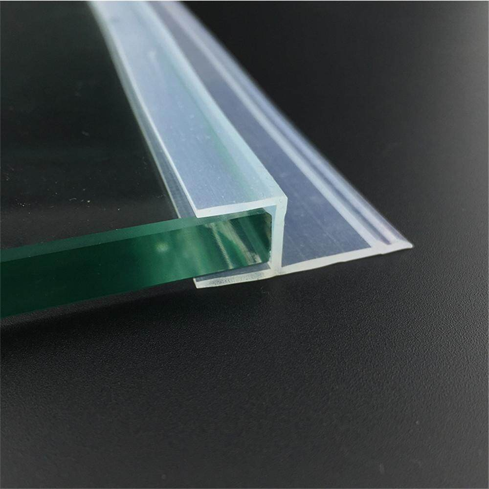 Door Window Weather Strip for 10mm Thick Glass Balcony Shower Screen Seals 5 Meters 20mm Wing h Transparent