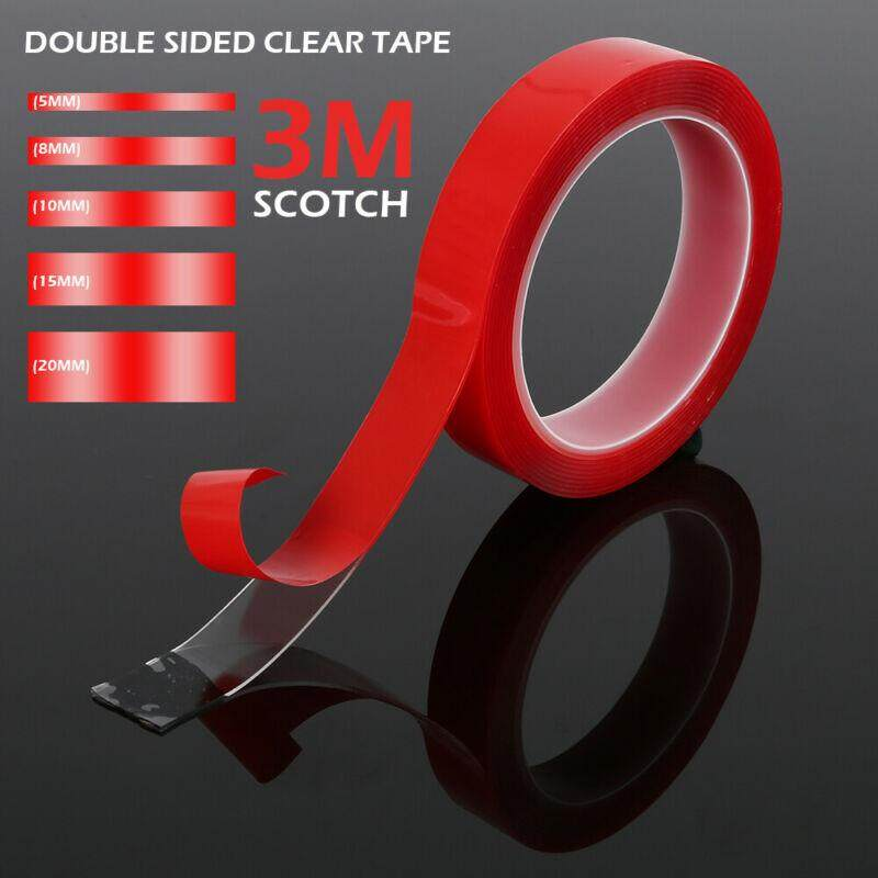 3m x 5-20 mm Vehicle Double Sided Clear Sticker Car Adhesive Acrylic Foam Tape