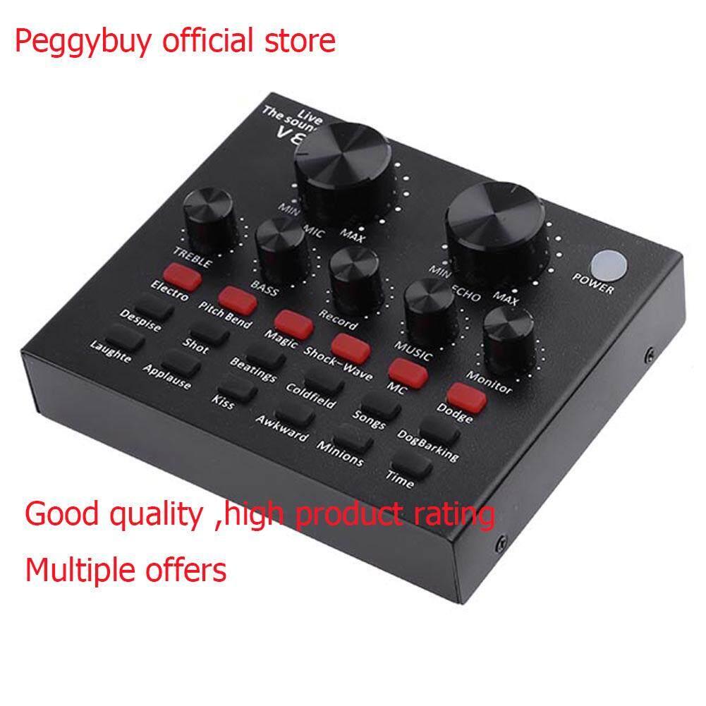 V8 Audio Headset Usb Mikrofon Webcast Live Kartu Suara Untuk Ponsel Komputer By Pb Peggybuy Official Store.