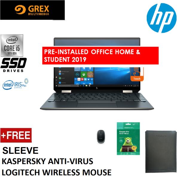 HP SPECTRE X360 13-AW0223TU LAPTOP (I5-1035G4,8GB,512GB SSD,13.3 FHD,IRIS PLUS GRAPHIC,WIN10 ) SLEEVE + LOGITECH WIRELESS MOUSE +KSPSKY ANTI-VIRUS + PRE-INSTALLED OFFICE H&S 2019 Malaysia