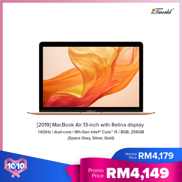 Apple 13-inch MacBook Air: 1.6GHz dual-core 8th-generation Intel Core i5 processor 256GB Malaysia