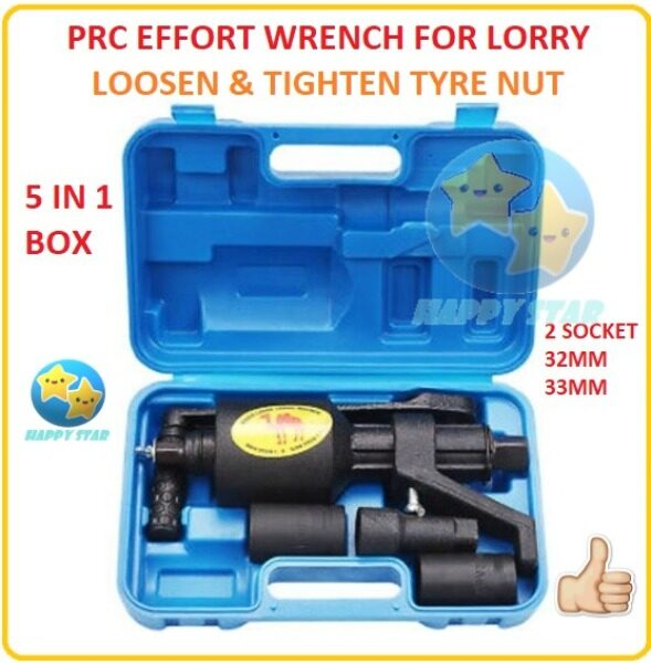 HEAVY DUTY EFFORT TIRE WRENCH WITH 2 SOCKET 32MM 33MM SPANNER ENERGIZER TRUCK TIRE CHANGER TOOL LORRY LORI TYRE TIRE SPANNER AUTOMOTIVE OPEN NUT NUTS HAND TOOL TOOLS WRENCH WRENCHES OPEN BUKA TAYAR NUT CAR TRUCK BUS NUT NUTS