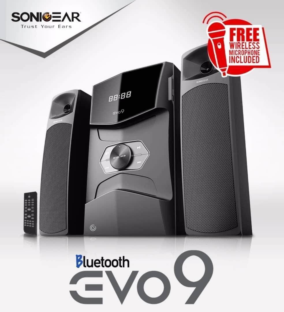 [Ready Stock] SonicGear Evo 9 BTMI Bluetooth Multimedia Speaker with USB, SD Card, Radio FREE Mic Malaysia