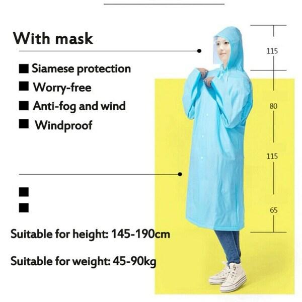 EVA Protective Raincoat Clothing Isolation Overalls Suit Splashproof Anti-Fog