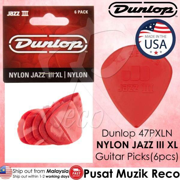 Dunlop 47PXLN 47PXLS Nylon Jazz III XL Nylon Guitar Picks Pack of 6 Malaysia