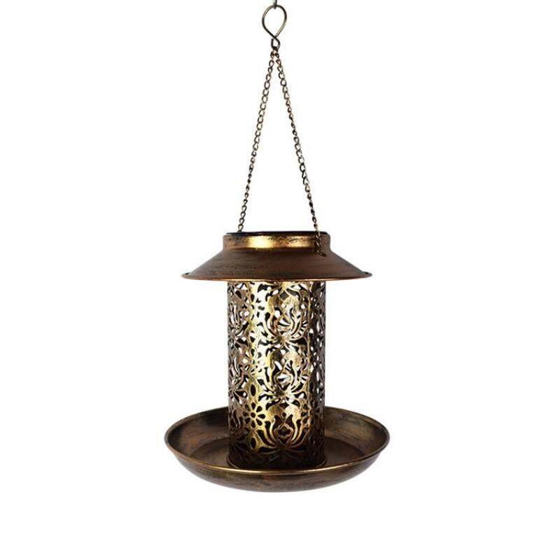 Đèn Lồng Chim Dùng Năng Lượng Mặt Trời, Đèn Treo Sân Vườn Kiểu Cổ Điển Chống Nước
