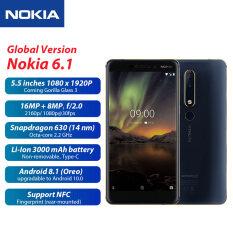 Phiên Bản Toàn Cầu Điện Thoại Di Động Nokia 6.1 4G 5.5 Inch Android 8.1 Snapdragon 630 Octa Core 3GB + 32GB 16MP + 8MP Camera 3000 MAh Điện Thoại Thông Minh Sim Kép Đã Mở Khóa