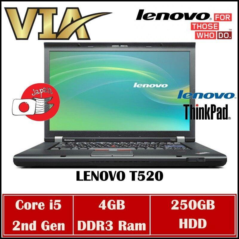 (FREE SHIPPING) Student/Office LENOVO THINKPAD T520~CORE i5 2ND GEN~4GB RAM~250GB HDD/120GB SSD~WIN7~WEBCAM Malaysia