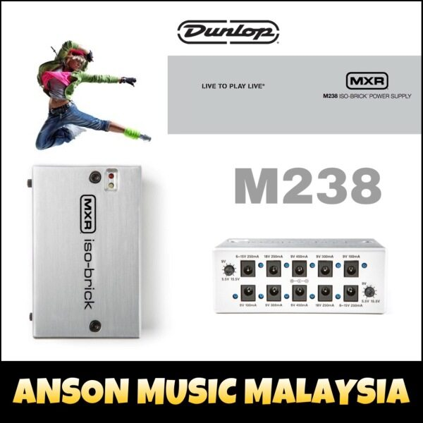 Jim Dunlop MXR M238 Iso-Brick 10-output Isolated Guitar Pedal Power Supply Malaysia