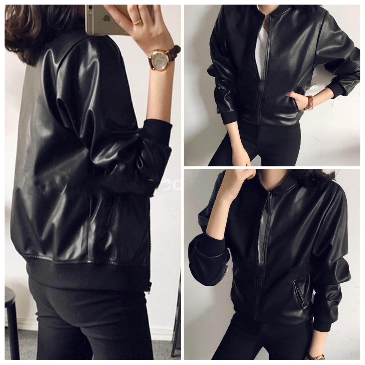 536c56b7f Msia Desiree3 Women Premium PU Leather Black Jacket