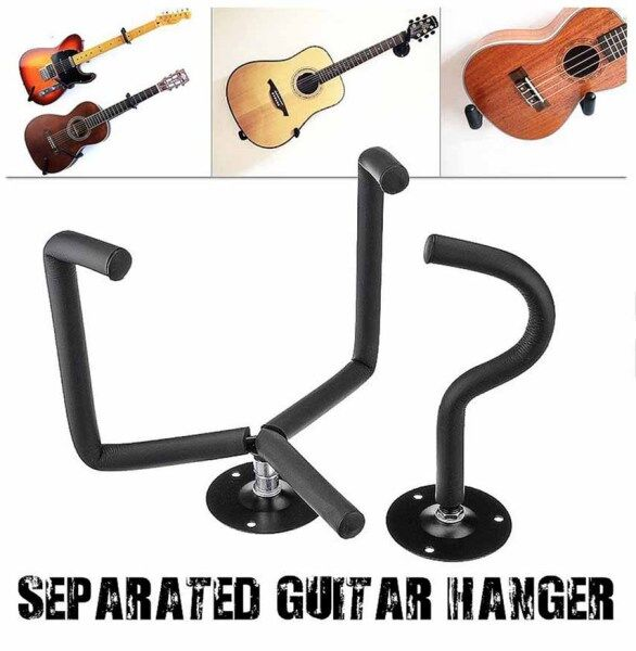 Guitar Wall Mount Acoustic/Electric/Classical Guitar Wall Hanger Slat Wall Horizontal Guitar Holder Stand Rack Malaysia
