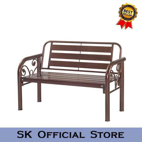 4 Metal Long Bench Chair / 2 Seater Garden Bench By Sk_furniturestore.