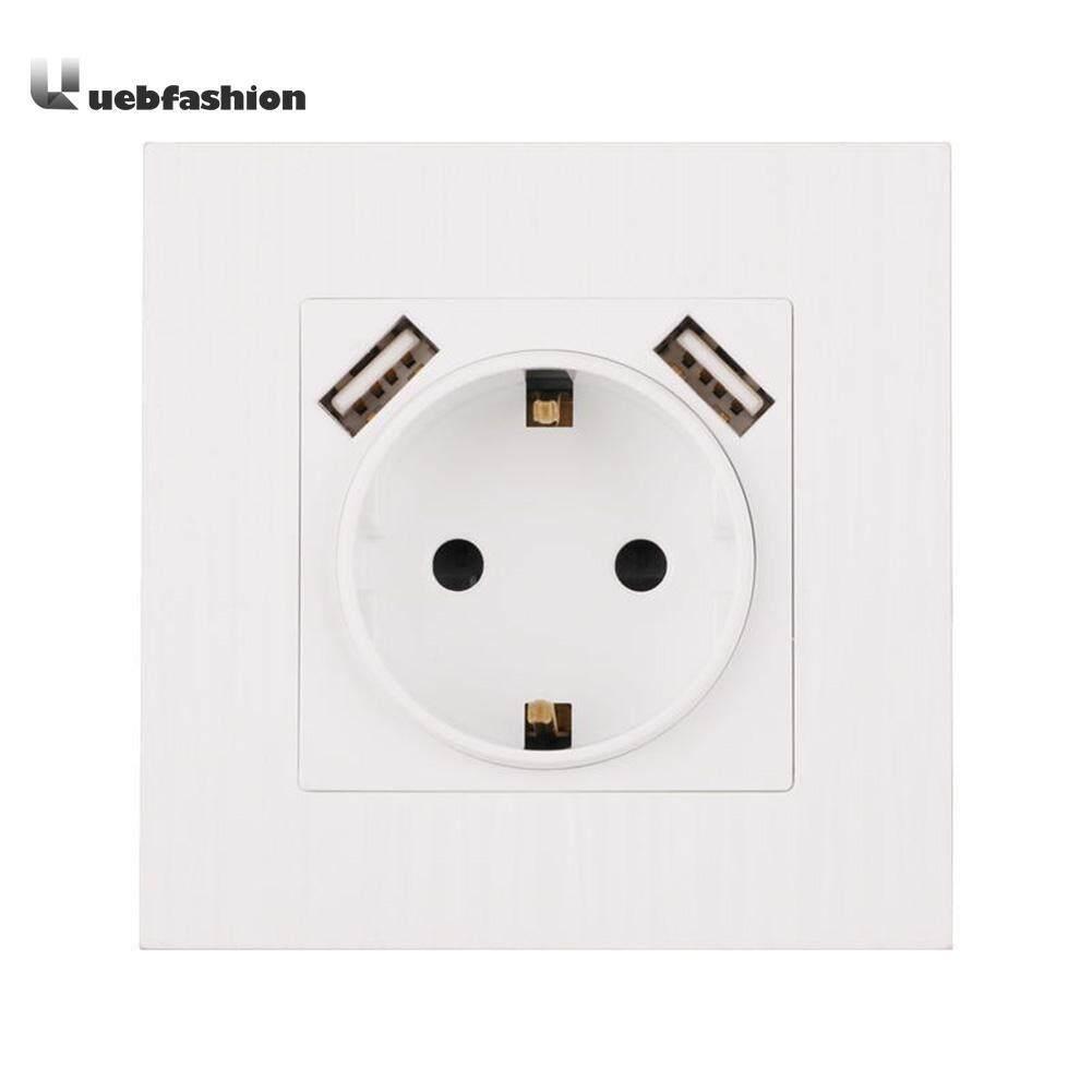 Điện Ổ điện Đôi Cổng USB 220-250 V 16A Ổ Cắm Ổ Cắm Điện