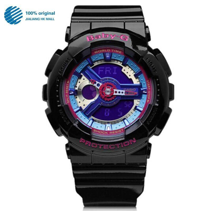 (2 Years Warranty) Original Casio Baby G_BA110 BA-110 Women Sport Digital Watch Duo W/Time 200M Water Resistant Shockproof and Waterproof World Time LED Light Girl Wist Sports Watches BA-112-1A Malaysia