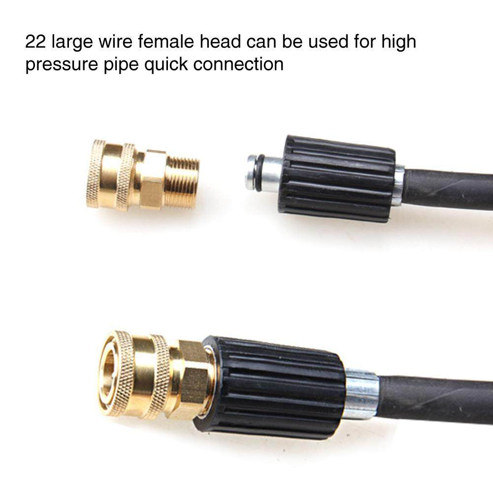 2PCS Copper Time-saving High Pressure Replacement Garden Hose Coupler Fitting Easy Install Quick Connector Set