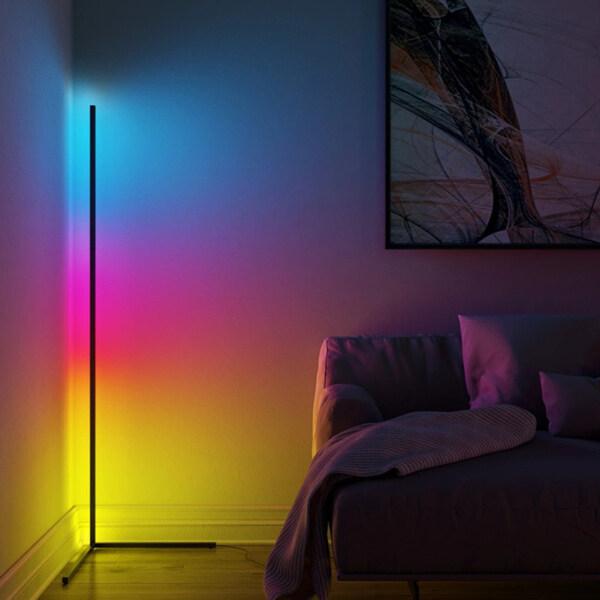Fenteer Floor Lamp Modern Remote LED Floor Lamps Corner Standing Lamp