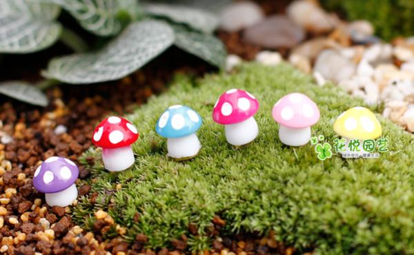 Miniature Mini for Succulent Terrarium Bonsai Cake Mini Cute Decor 蘑菇盆栽摆件 Mushroom potted plant decoration