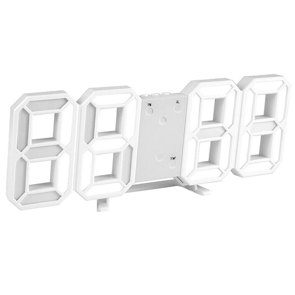Đồng Hồ Kỹ Thuật Số LED Hiện Đại Đồng Hồ Treo Tường Điện Tử 3D, Trang Trí Đèn Ngủ Dạ Quang