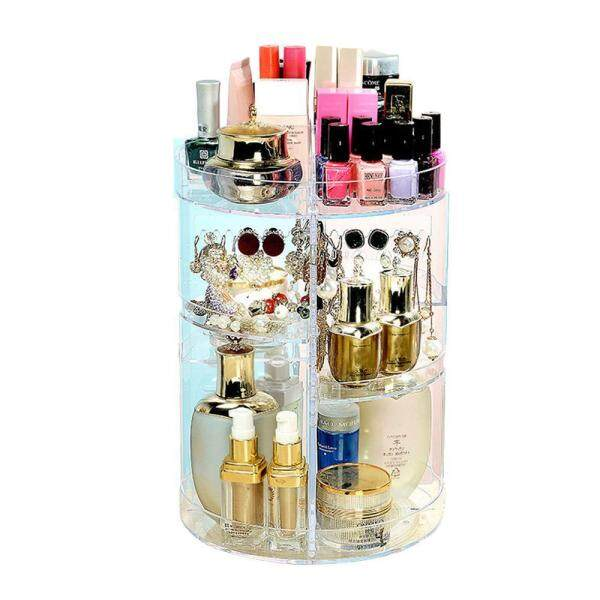 Aolvo Makeup Organizer Removable Makeup Holder Large Capacity Cosmetic Organizer Storage Box