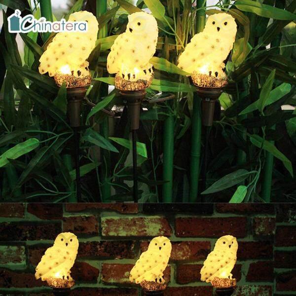 [Chinatera] 2 Chiếc Đèn LED Năng Lượng Mặt Trời Năng Lượng Mặt Trời, Đèn Bãi Cỏ Cú Dễ Thương Đèn Cảnh Quan Sân Vườn Ngoài Trời Không Thấm Nước Đèn Cọc Bãi Cỏ Trang Trí Sân Vườn