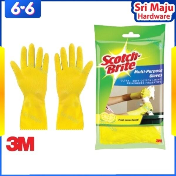 MAJU 3M Scotch Brite Multi Purpose Hand Glove for General House Work Dish Wash Cleaning Task Office Sarung Tangan