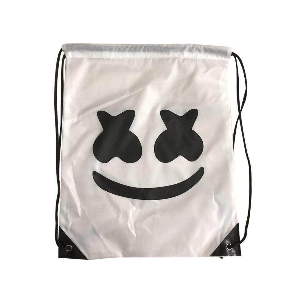 Mua BluShine DJ Marshmello Mặt Nạ và Marshmello Ba Lô Hội Âm Nhạc Mũ Bảo Hiểm Mặt Nạ Halloween Chống Đỡ Một Nửa Mặt Nạ Hóa Trang Halloween Hóa Mặt Nạ
