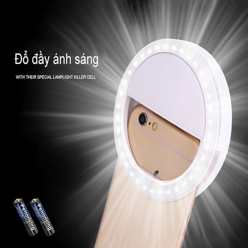 Đèn LED kẹp điện thoại hỗ trợ chụp hình Selfie-Selfie LED Ring Flash Lumiere Điện thoại Di động LED Điện...