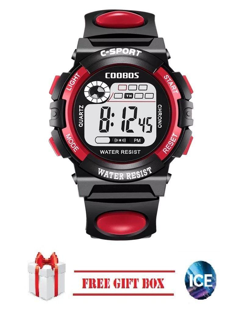 ICE Children Watches LED Digital Multi-functional Waterproof Outdoor Sports Watch FREE GIFT Box Malaysia