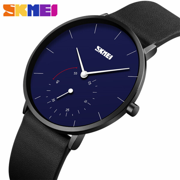 SKMEI Top Brand Mens Watches Fashion Leather Men Quartz Sport Clock For Simple Men Casual Waterproof Military Watch Malaysia
