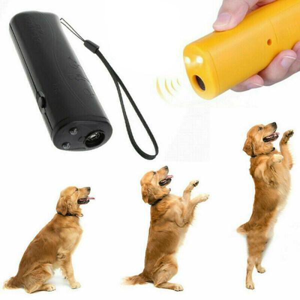 Đèn Led nóng Thuốc đuổi chó Thiết bị huấn luyện thú cưng bền Đại lý Điều khiển Siêu âm Chó chống chó sủa 3 trong 1 Chống sủa