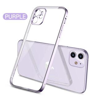 Ốp lưng silicon trong suốt ranyerio cho iPhone Ốp viền mạ vuông cho Iphone 11 Pro Max XS XR 7 Plus 8 SE 2020 có bảo vệ camera thumbnail