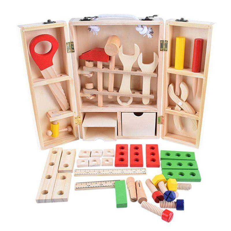 Kid Baby Wood Multifunctional Tool Set Toys DIY Maintenance Box Pretend Montessori Educational Toys For Children Christmas Gift