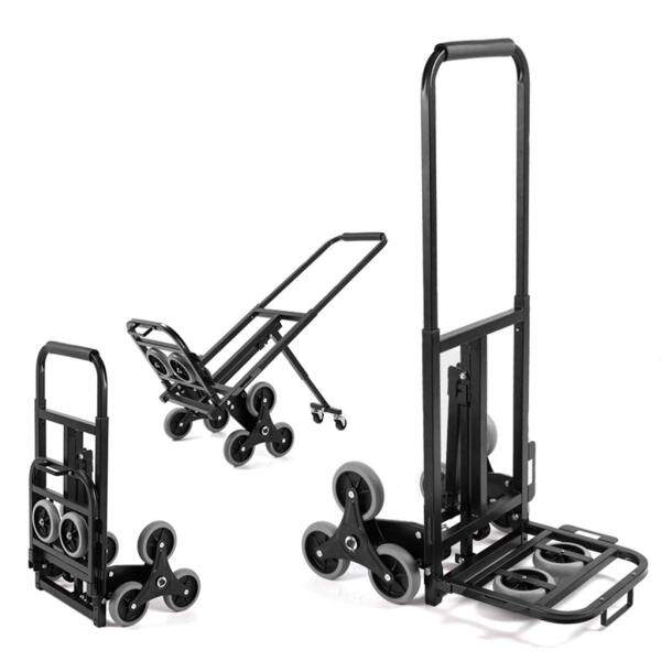 Million Hardware - 150kg 6 Wheel Stair Climbing Hand Sack Trolley Cart Truck - [READY STOCK SHIPS FROM LOCAL]