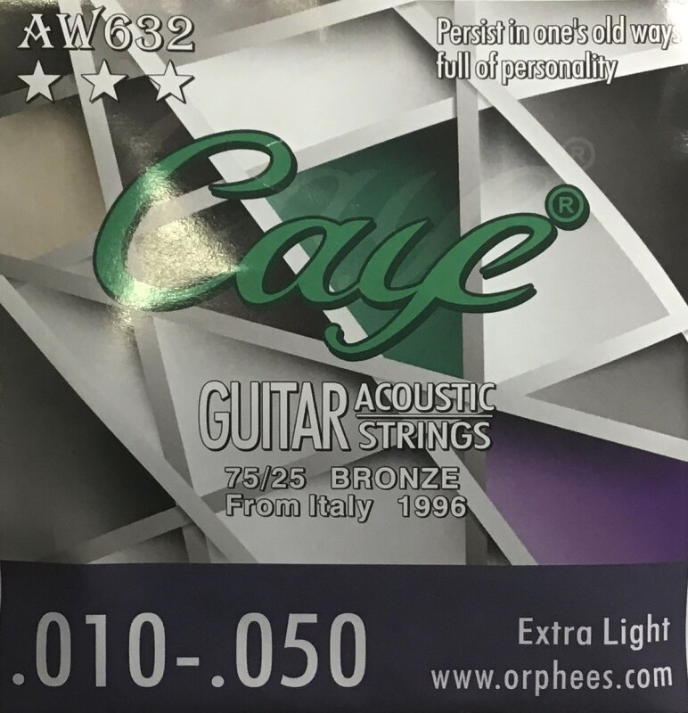 Caye Acoustic Guitar String AW632 Extra Light Malaysia