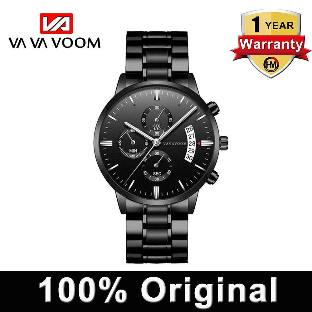 HANNAH MARTIN Sport Watch Fashion Leather Mens Business Quartz Waterproof Watches (Use Japan movement)Top Luxury Brand Clock Malaysia