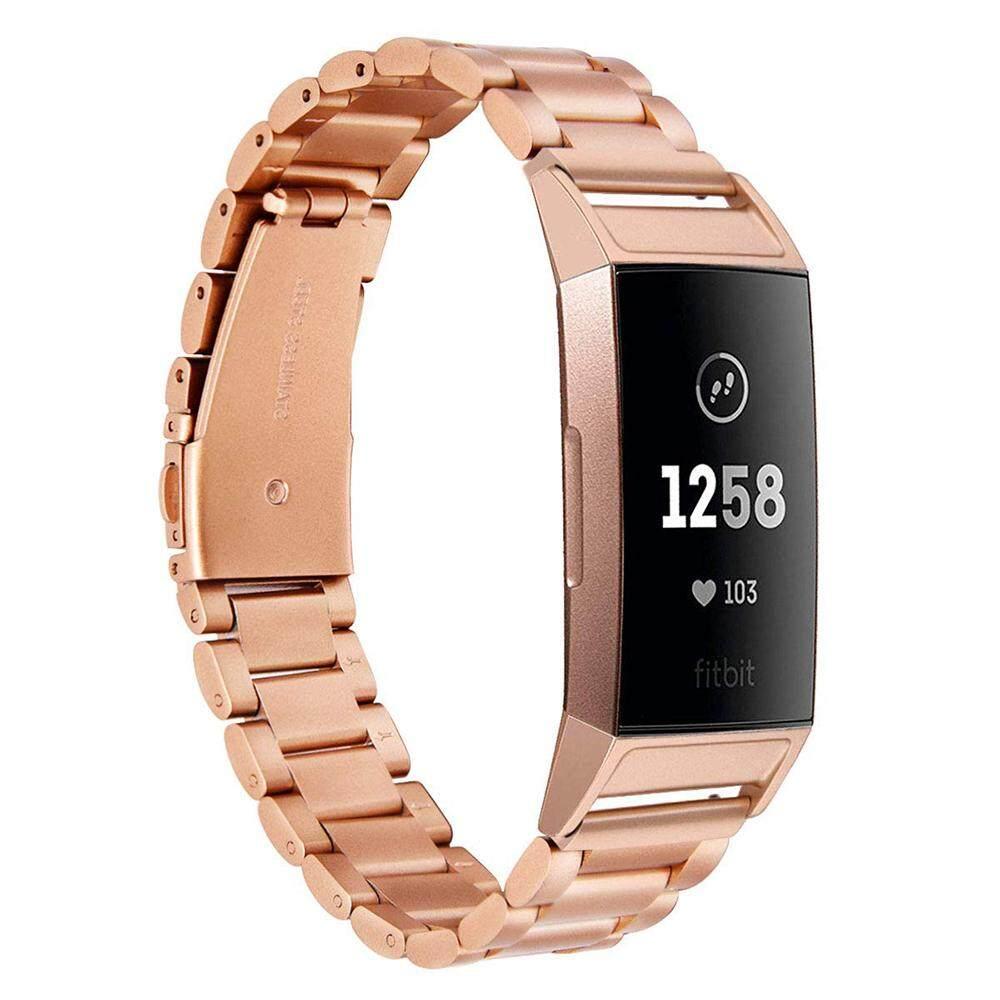 90a4051fd7 Baja Anti Karat Logam Gelang Pengganti Wrist Band untuk Fitbit Charge 3  TH1067