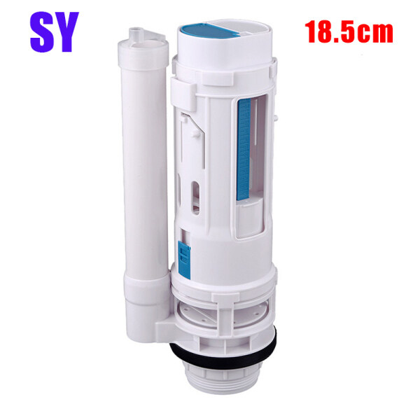 Water Tank Connected 2 Flush Fill Toilet Cistern Inlet Drain Button Repair Parts Water Outlet