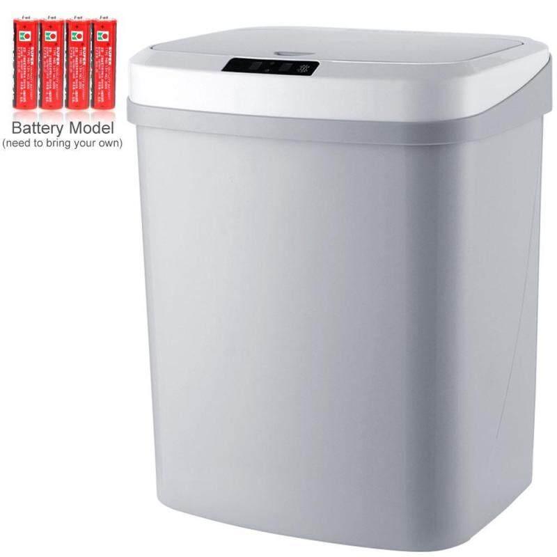 Thùng rác OrzBuy 15L cảm ứng tự động thông minh, không cần chạm trực tiếp cho nhà bếp phòng khách nhà tắm văn phòng Thùng rác 25cm công nghệ cảm ứng