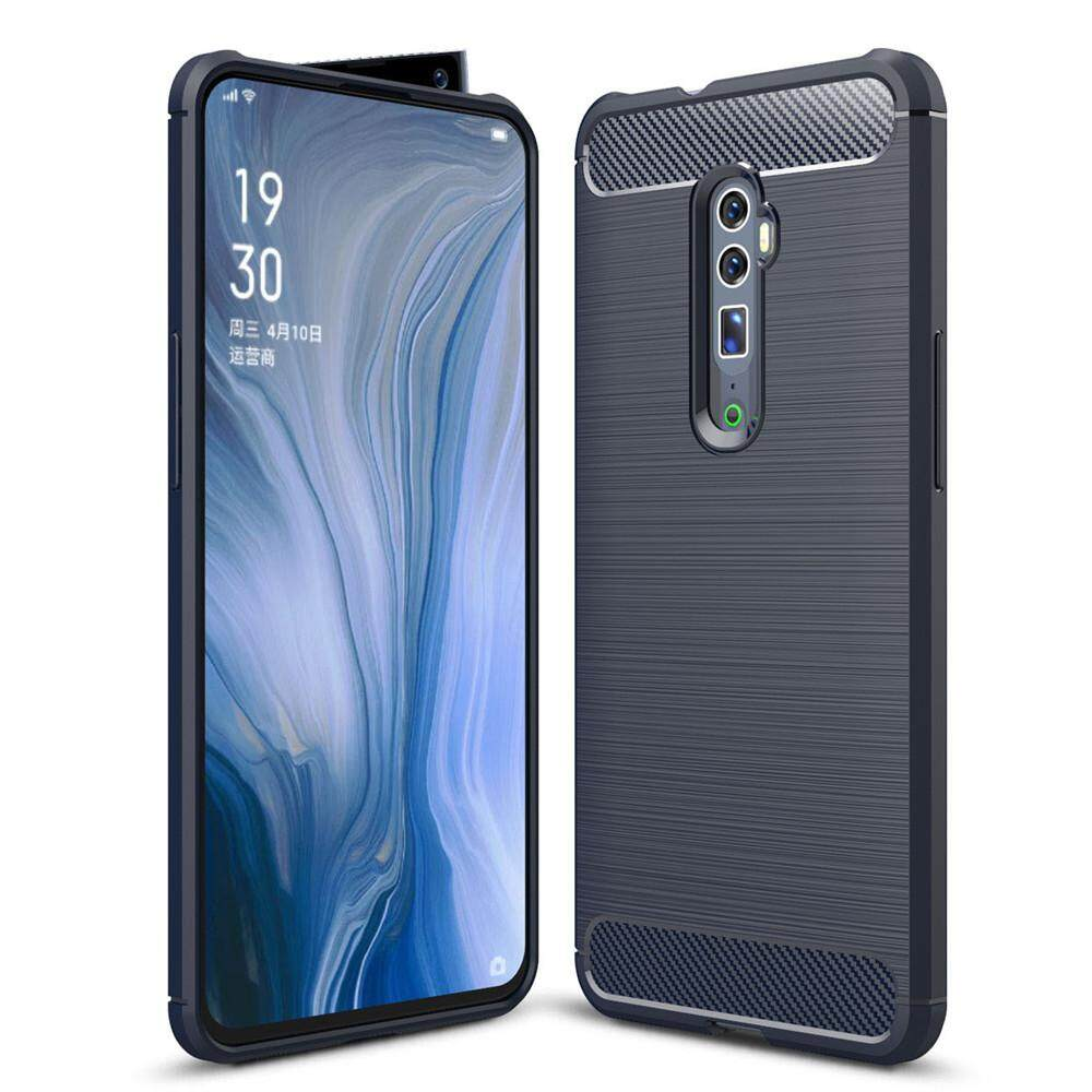 Lenuo Case for Oppo Reno 10x zoom TPU Soft Carbon Fiber Silicone Brushed Anti-knock