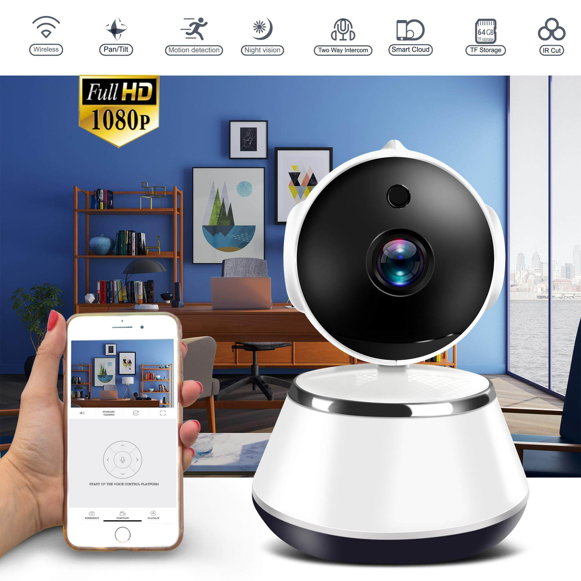 1080p Ip Cam Hd Wifi Ip Security Camera Wireless Cctv Home Network Video Surveillance Night Vision Smart Indoor Baby Monitor By South Ocean.