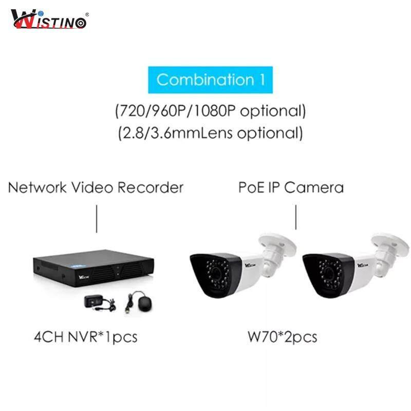 Wistino CCTV PoE IP Camera XMeye NVR Kits Set 1080P Outdoor Surverillance  Security System Monitor Onvif Night Vision 1