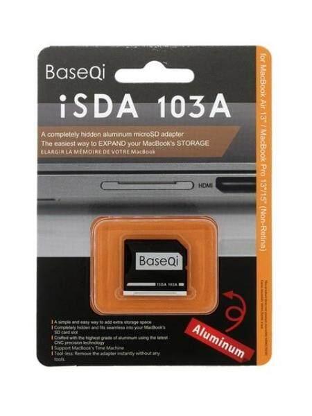 BaseQi Aluminum Micro SD /TF Card Adapter Memory Expansion SD Card Reader For Macbook Pro Retina 13/15 and MacBook Air 13 (103A)