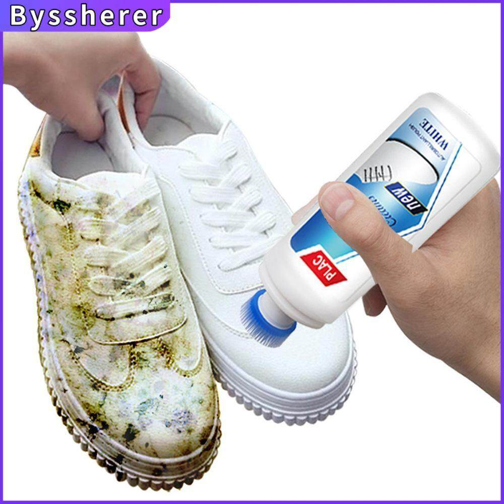 Byssherer White Shoes Cleaner Whiten Refreshed Polish Cleaning Tool For Casual Leather Shoe Sneakers Shoe Brushes
