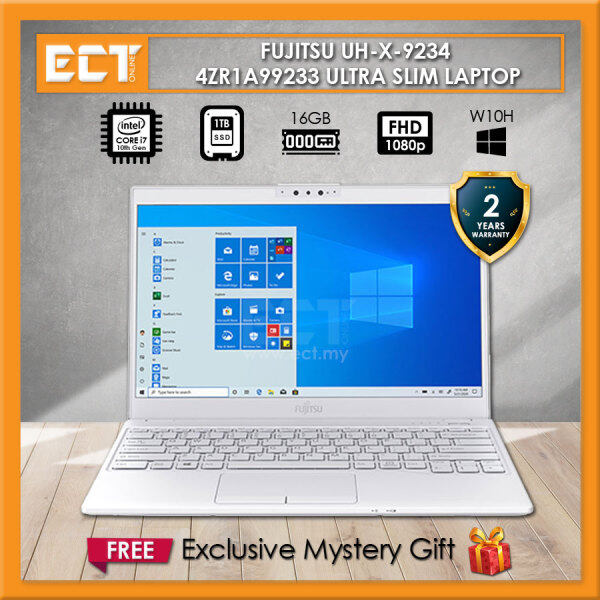 Fujitsu UH-X 9234 4ZR1A99233 Laptop (i7-10510U 4.90GHz,16GB,1TB SSD,13.3 FHD,Intel,W10) - White Malaysia