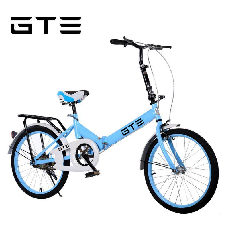 GTE 20 Inch Folding Bike Foldable Bicycle Cycling Mountain Bike Off-road  City Bicycle Road Bike Adult Children Bicycle - Fulfilled by GTE SHOP