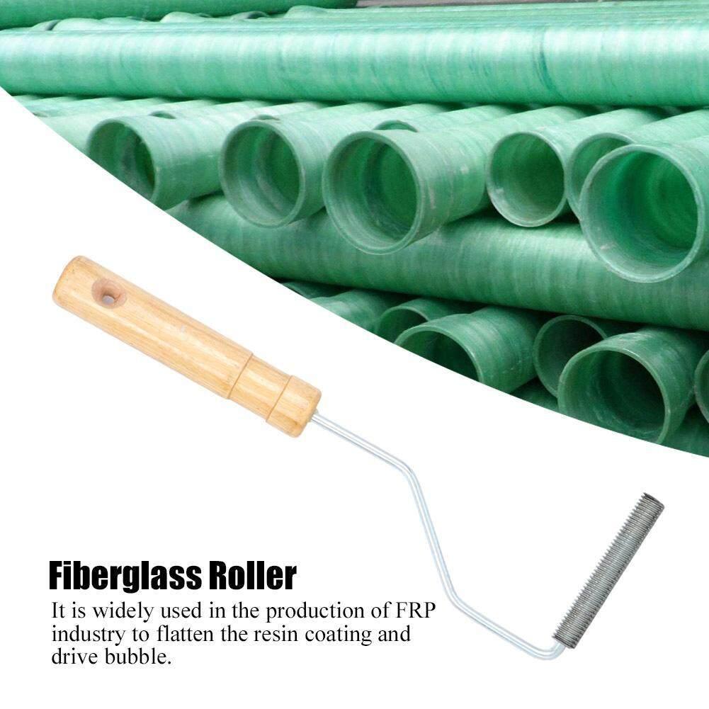 Aluminum Alloy Diameter 12x75mm Fiberglass Bubble Laminating Roller Rolling Tool for FRP