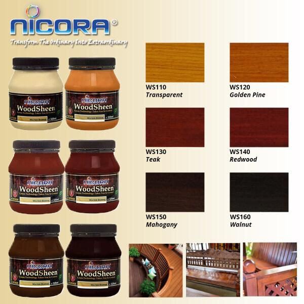 NICORA Woodsheen Water-based Wood Varnish Paint Lacquer Shellac 320ML