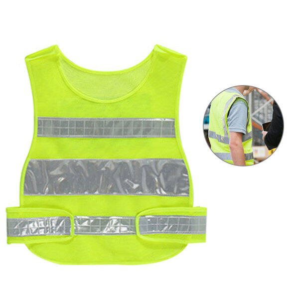 Mesh Fabric High Visibility Emergency Traffic Night Running Outdoor Cycling Protective Gear Safety Warning Construction Reflective Vest